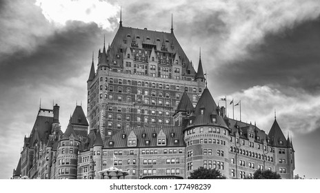 Wonderful medieval architecture of Quebec City, Canada.