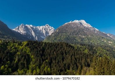 Wonderful Mountain Landscape Panorama In Europe's Most Untouched Valley Lesachtal Carinthia Austria