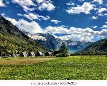 Wonderful Mountain landscape in Valbona Albania