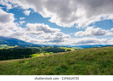wonderful mountainous countryside in early autumn. beautiful sky. exploration and adventure concept