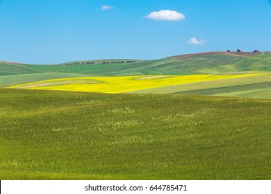 wonderful natural landscape in  basilicata, southern Italy