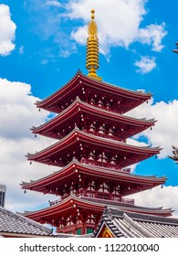 Wonderful pagoda tower at Senso Ji Temple in Tokyo Asakusa
