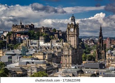 Wonderful panorama of Edinburgh photographed from Calton Hill