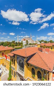 Wonderful panoramic view of the city on the background of a beautiful sky.Istanbul a romantic city is the cultural capital of Turkish and is a favorite destination for tourists from all over the world - Shutterstock ID 1923066122
