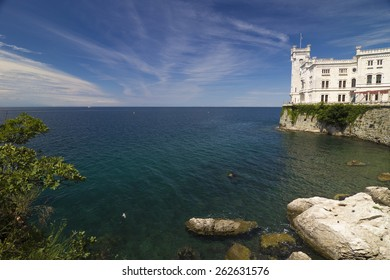 Wonderful picture of Miramare Castle and the sea