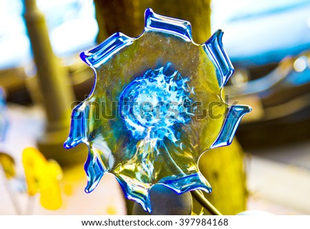 Wonderful Piece Blue Murano Glass Italy Stock Photo Edit Now