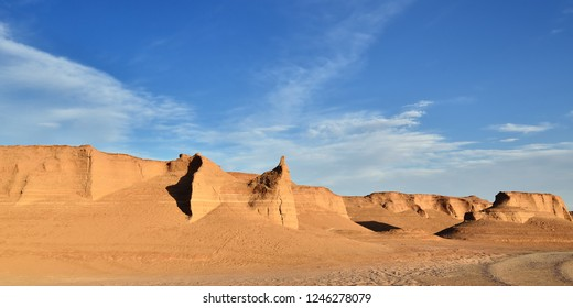 Wonderful rock formations created by the nature on the Lut Desert - Dasht-e-Lut, the hottest and driest places on the planet, locate near Kerman, Iran