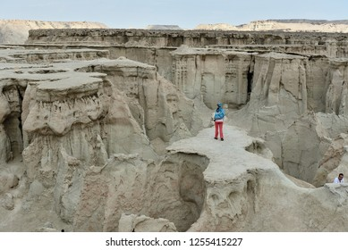 Wonderful rock formations created by the nature on the Stars Valley on the Qeshm island, Iran