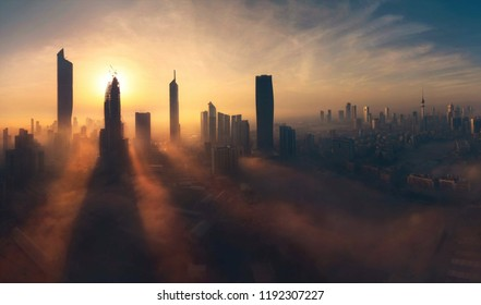 A wonderful shot of fog in Kuwait City