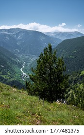 wonderful vertical landscape from the Roc del Quer viewpoint in the Andorran Pyrenees