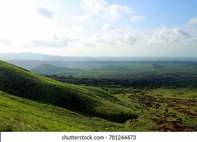 The wonderful view around the volcano Masaya in Nicaragua