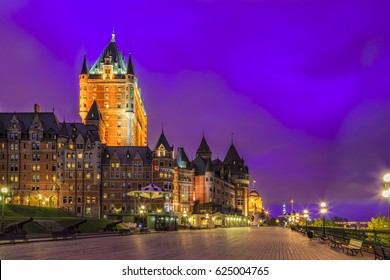 A wonderful view from the boardwalk on Terrasse Dufferin in Quebec City