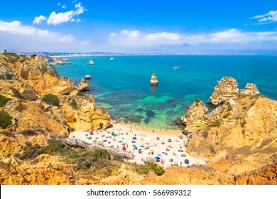 Wonderful view of Camilo Beach in Lagos Algarve Portugal