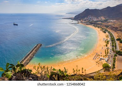 Wonderful view from Mirador Las Teresitas. Tenerife. Canary Islands.