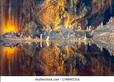 Wonderful view of the most famous fairy grotto in Saalfeld (Fairy Grottoes of Saalfeld), Thuringia, Germany. This backdrop inspired a composer to create a stage setting for a Wagner opera.