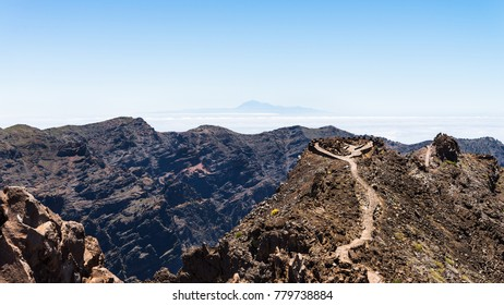A wonderful view from the Roque de los Muchachos at the island of La Palma.