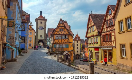 A wonderful view of Rothenburg Ob der Tauber. Bavaria, Germany