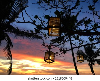A wonderful view of sunset at Varkala beach, Trivandrum district of Kerala, India. Cafe Italiano provides one of the best sunset view at this beach with good food and drinks