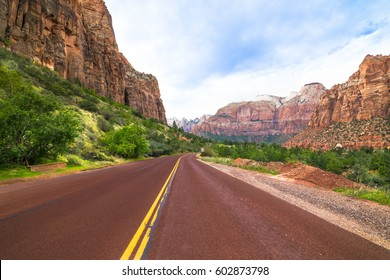 Wonderful view of Zion Canyon National Park