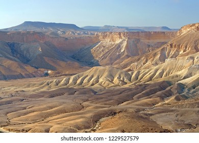 Wonderful views of Ein Avdat and Zin Valley. Negev, desert and semidesert region of southern Israel