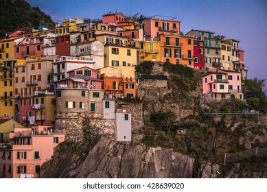 The wonderful village of Manarola, in the famous Cinque Terre area in Liguria, Italy