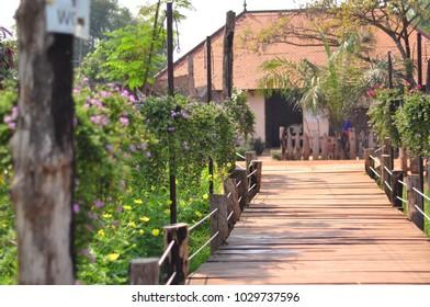 Wonderful walking path in the park