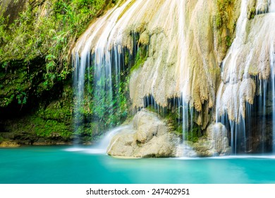 wonderful waterfall, Koe Luang Waterfall in Lamphun, Thailand