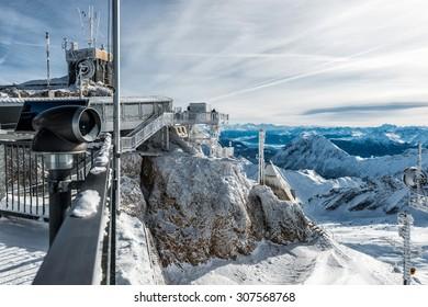 wonderful winter day on the Zugspitze