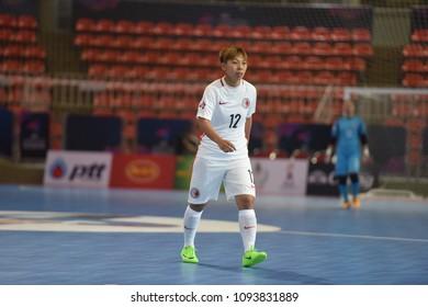 WONG SHUK FAN of Hong kong during AFC Women's Futsal Championship 2018 Final match between Hong kong and Macau at Indoor Stadium Huamark on May 4, 2018 in BANGKOK,Thailand.
