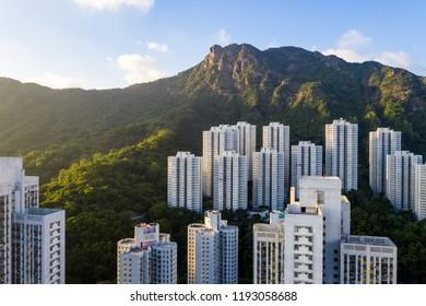 Wong Tai sin, Hong Kong, 13 September 2018:- Lion rock mountain