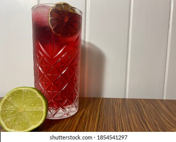 Woo woo long cocktail with lime
