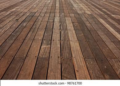 Wood background - perspective wooden floor