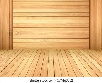Wood bamboo floor background.