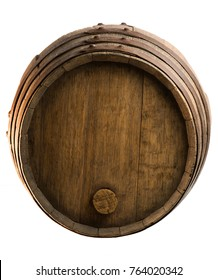 Wood barrel isolated on white background, Wine