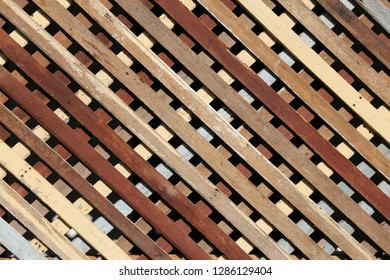 wood battens in the sunlight