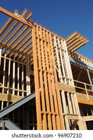 Wood Beam Structure and Construction Site