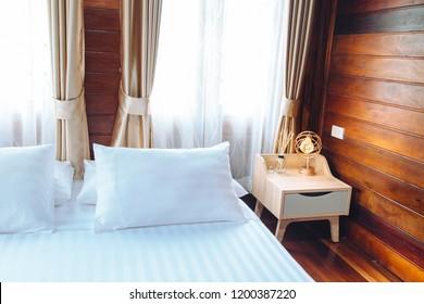 Wood bedroom, thai style bedroom