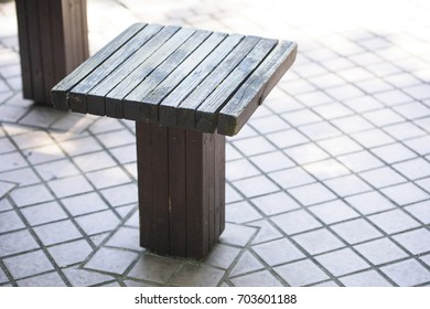 Wood bench in the park