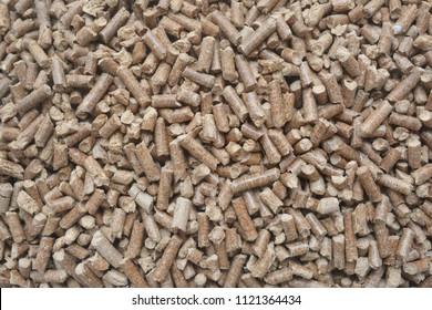Wood bioenergy pellets texture