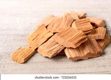 wood block of Sandalwood on the table