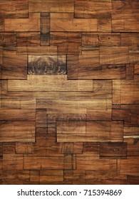 Wood Block Wall Texture