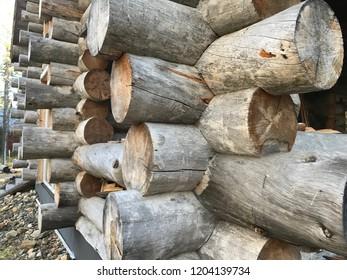 Wood blockhouse Norway