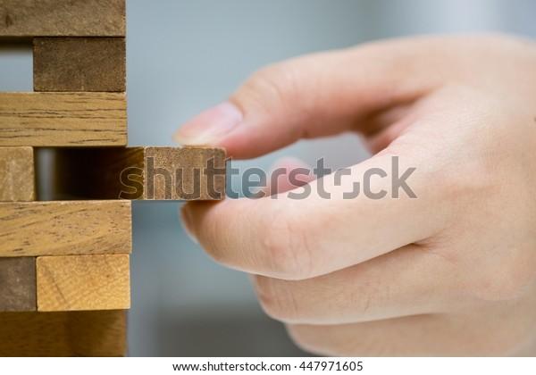 wood blocks stack game