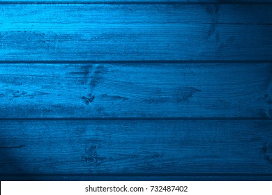 wood board blue background or wooden texture
