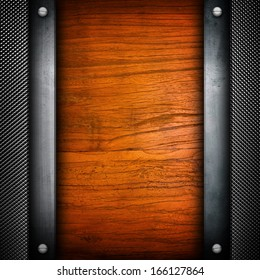 wood board with metal frame