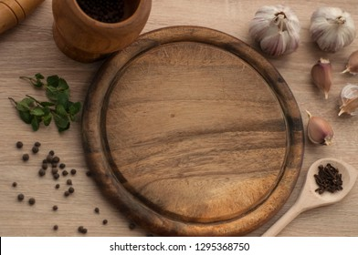 Wood Board and spices
