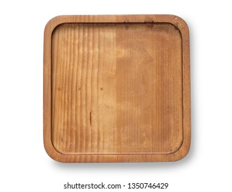 Wood board and tray for cooking and kitchen concept. Isolate background.