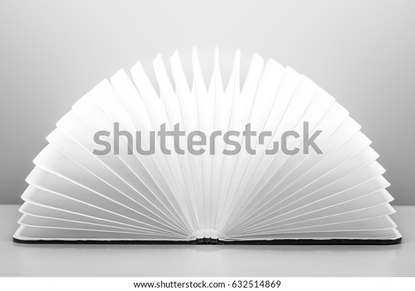 Wood Book Isolated On White Background