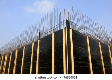 Wood bracket in a construction sites