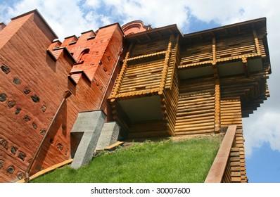 Wood and brick fortress Kyiv Ukraine